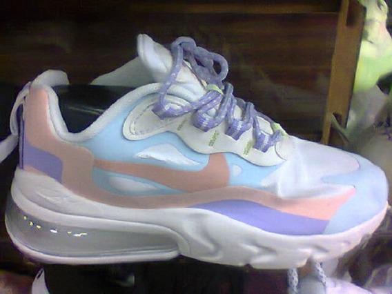 Tenis Nike Airmax React 270 Azul/rosa/lilas Nº36 Original
