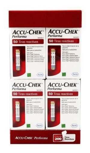 Tiras Reactivas Accu-chek Performa Paq 4 Cajas C/50 Pzs C/u