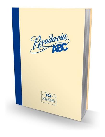 Cuaderno Rivadavia Abc Tapa Dura X 194 Hojas X3 Unidades