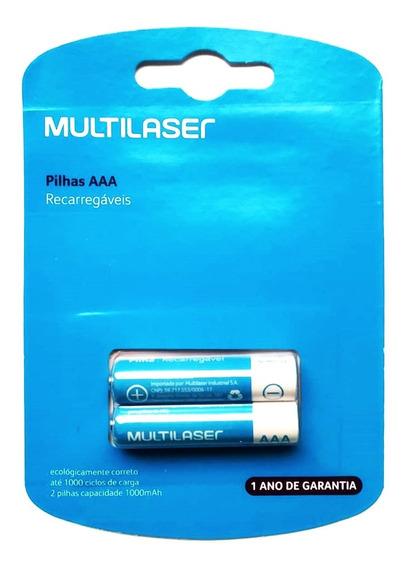Pilha Recarregavel Aaa Multilaser Cb051 Com 2 Un 1000 Mah