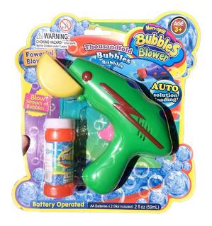Burbujero Pistola Con Luz Y Liquido De Burbujas Marca Edaco