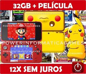 Nintendo New 2ds Xl + 150 Jogos + 32gb + Roda 3ds + Fonte