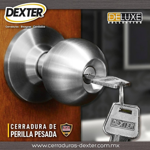 Imagen 1 de 7 de Cerradura Chapa De Perilla Puerta Principal Acero Inoxidable