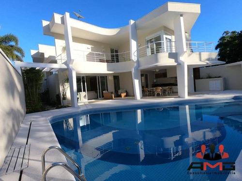Casa Com 5 Dormitórios À Venda, 350 M² Por R$ 4.980.000,00 - Riviera - Módulo 3 - Bertioga/sp - Ca0844
