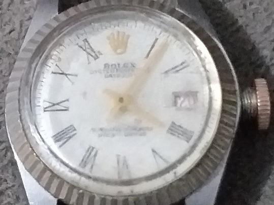 Relógio Rolex Automático S Pulseira Coroa Funciona P Consert