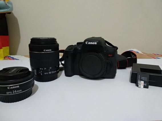 Câmera Digital Canon Eos Rebel T6i - Muito Nova!