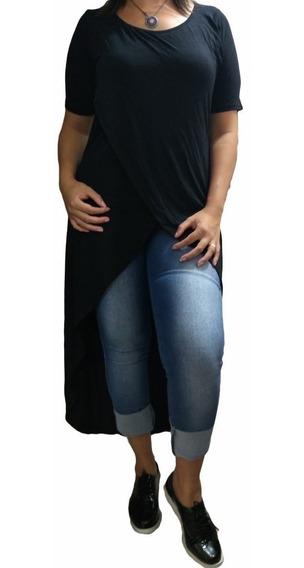 Blusão Feminino Transpassado Camisão Longo Transpassado