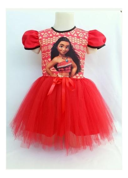 Vestido Infantil Moana Fantasia Moana Bailarina