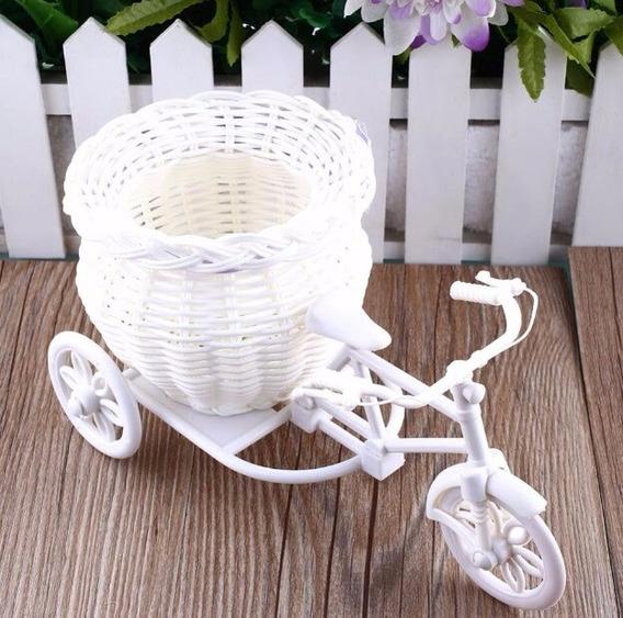 Bicicleta Artesanal Decorativa, Cor Branco 5 Unidades