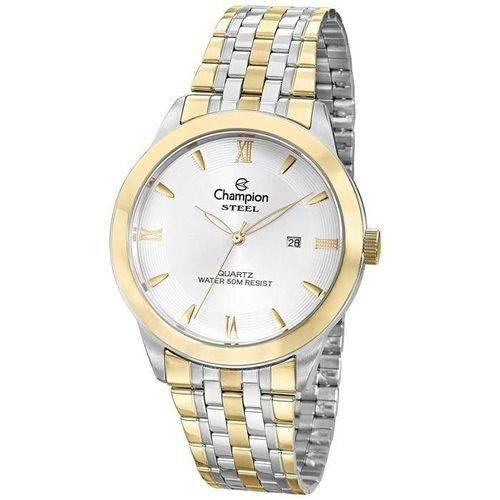 Relógio Champion Masculino Prata Com Dourado Ca21599s