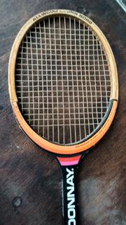 Antigua Raqueta De Tenis Donnay Autógrafo Bjorn Borg Madera