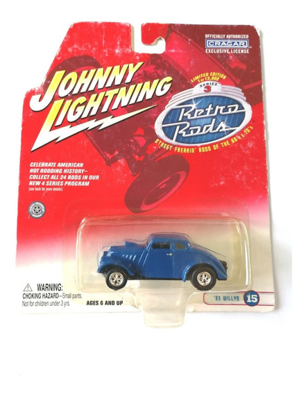 Johnny Lightning 1933 Coupe Willys Hot Rod Ruedas De Goma