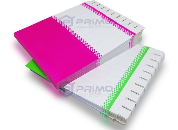 Pulseira Identificação P/ Impressora Jato Tinta Kit C/ 500