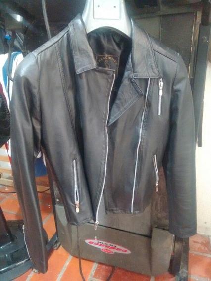 Chamarra Dama Negra Rock/motociclista