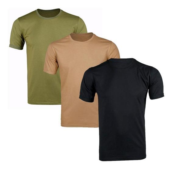 Kit 3 Camisetas Masculina Soldier Bélica
