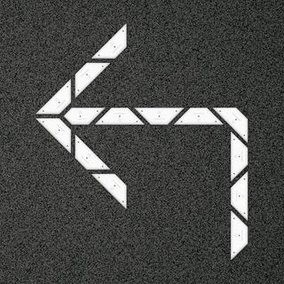 Kit Flecha Simple Curva 90 Izquierda- Placa