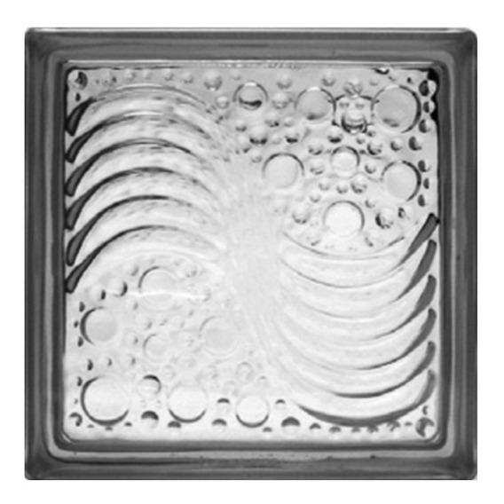 Vidrioblock 19x19x8 Transparente (oceano)(caja 6 Pzas)