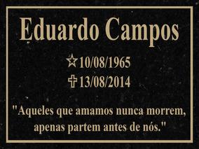 Placa Lápide De Granito Para Túmulo De Cemitério Tam 20x25cm