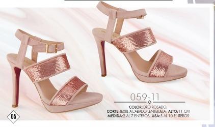 Zapatillas Cklass Oro Rosa 059-11..outlet/saldos Mchn
