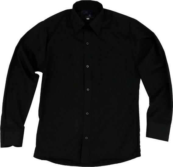 Camisa Vestir Para Adulto Negra Tallas Extras 44, 46, 48, 50