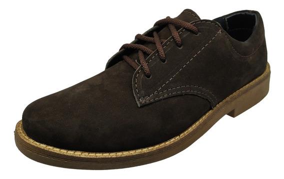 Sapato Social Casual Cadarço Cano Baixo Bico Redondo Couro