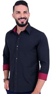 Kit 3 Camisa Social Atacado Masculina Slim Fit Camiseta
