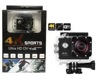 Câmera Sports 4k Ultra Hd Wi-fi 16 Mega Pixels Suporta 64 Gb