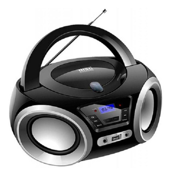 Boombox C/ Bluetooth, Cd, Usb, Radio Fm, E Auxiliar