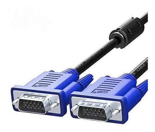 Imagem 1 de 3 de Cabo Vga Para Monitor Macho Lcd Pc Projetor 1,5 Metros Novo