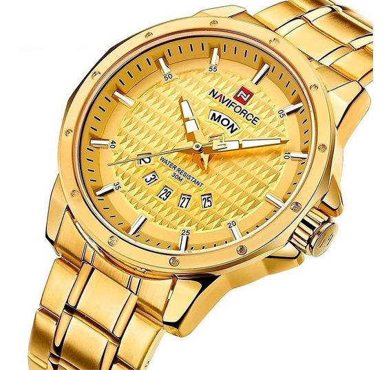 Relógio Masculino Naviforce Ostentação Exclusivo Lançamento