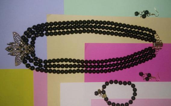 Collar Triple Color Negro