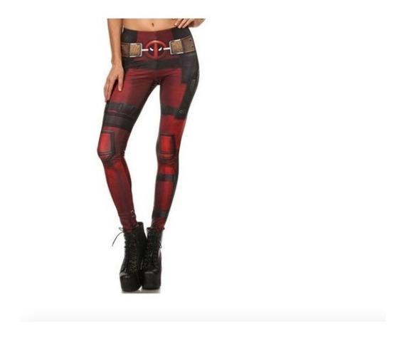 Deadpool Legging Mallones Deportivos Casual Mujer Xtm P
