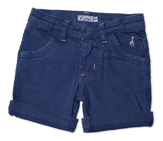 Bermuda Jeans Infantil Masculina Azul Marinho 6-9 Meses