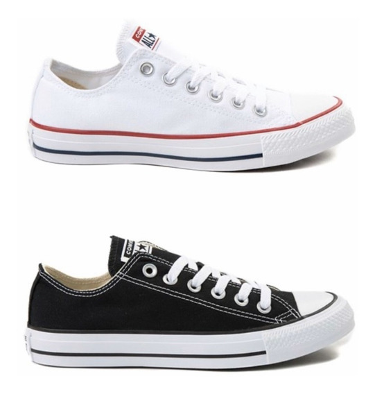Kit 2 Pares Tênis Feminino Converse All Star Lona Baixo