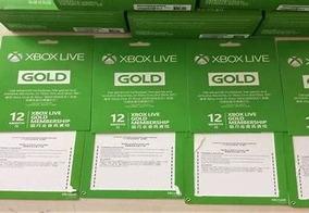 Cartão Xbox Live Gold 12 Messes Envio Em 10 Minutos