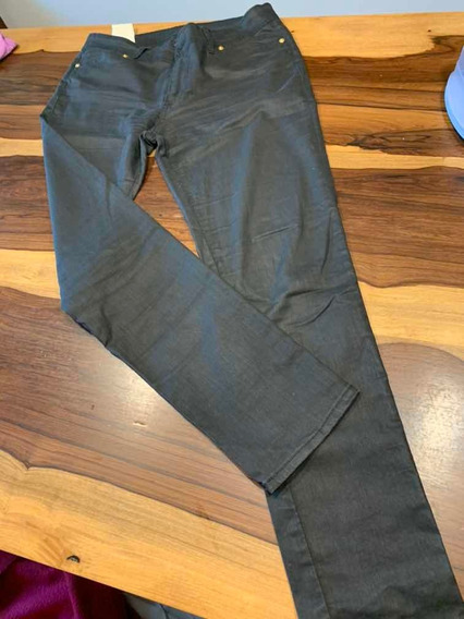 Pantalón De La Ostia Jean Negro Media Estación Recto T32