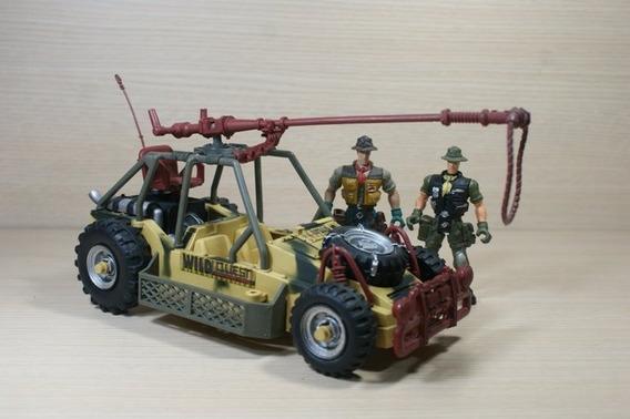 Vehículo Safari Con Figuras De Acción Escala 1:18