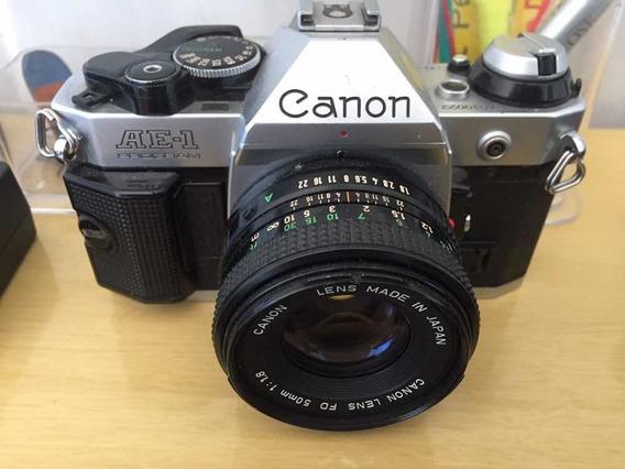 Canon Ae1 Program Analogica Com Lente 50mm