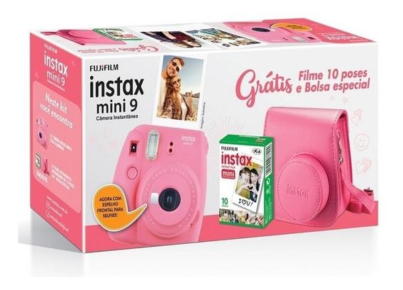 Kit Câmera Fujifilm Instax Mini 9 - Pink