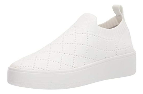 Steve Madden Bequilt Sneaker Para Mujer, Blanco, 8 Us