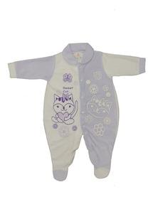 Macacão Em Plush Para Bebê Com Pé Fechado - Diversas Cores