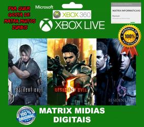 Kit Resident Evil 4/5/6 Xbox 360 Original-mídia Digital