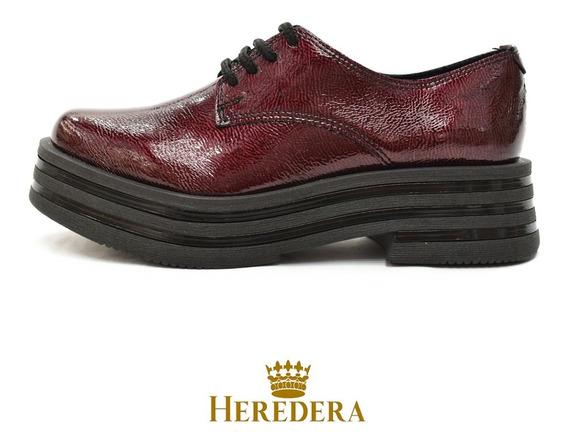 Zapatos Mujer Acordonados Charol Plataforma Savage Zr 50