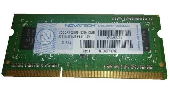 Memoria Ram Sodimm Novatech - Ddr3 - 2gb - 1333mhz - 1,5v.