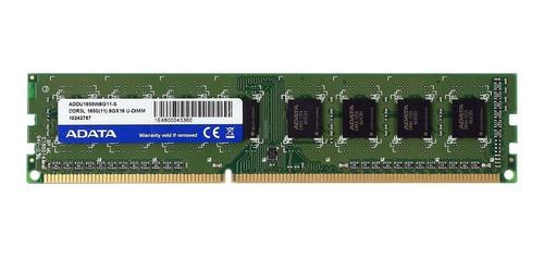 Imagen 1 de 1 de Memoria RAM Premier Series  8GB 1 Adata ADDU1600W8G11-S