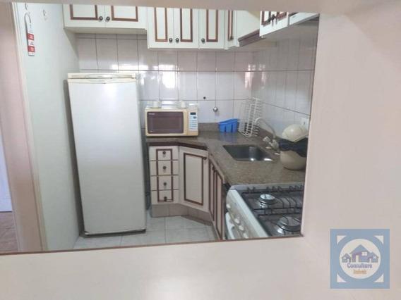 Flat Com 2 Dormitórios À Venda, 67 M² Por R$ 350.000,00 - Gonzaga - Santos/sp - Fl0048