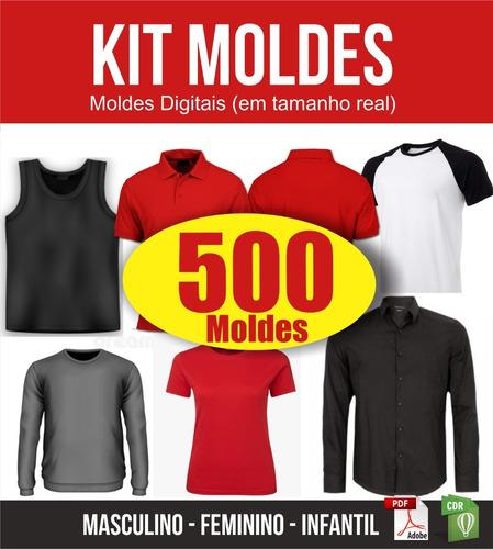 Kit Modelagem De Roupas Em Pdf 500 Em Tamanho Real Digital