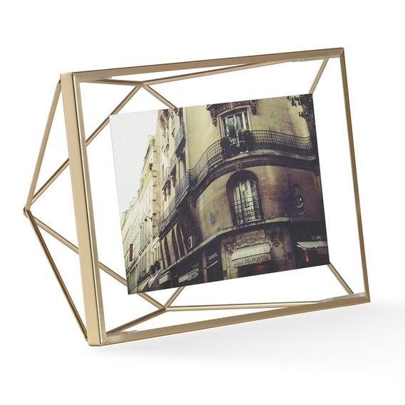 Porta Retrato Prisma 10x15 Cm Dourado Umbra Umbra