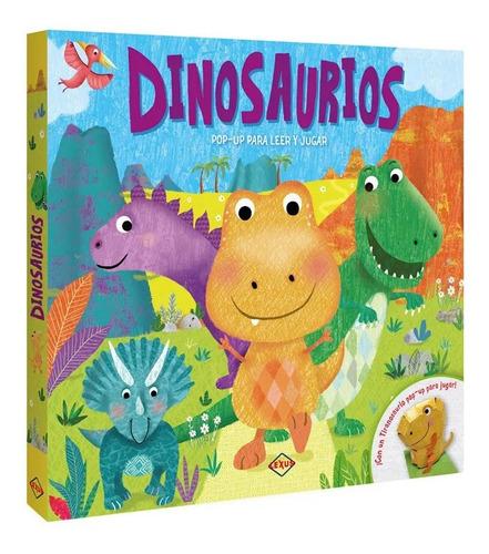 Imagen 1 de 3 de Libro Infantil Pop Up Dinosaurios Lexus Editores