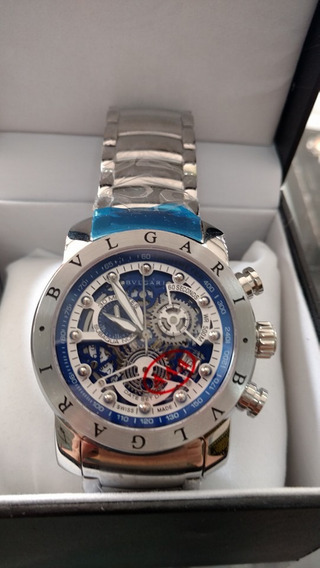 Relógio Kk78 Bv Azul Linha Venon Série Prata Top Promocional